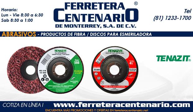 abrasivos discos laminados fibra esmeriladoras ferretera cenetnario monterrey mexico