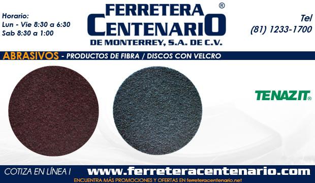 discos velcro productos fibra abrasivos ferretera centenario monterrey mexico