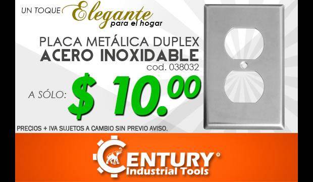 placa metalica duplex acero inoxidable oferta promocion ferretera centenario monterrey mexico