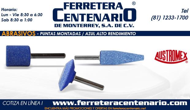 puntas montadas azul alto rendimiento ferretera centenario de monterrey abrasivos herramientas Mexico