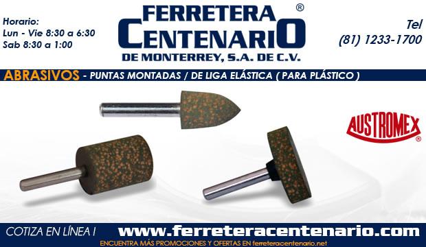 puntas montadas liga lastica plastico ferretera centenario monterrey mexico