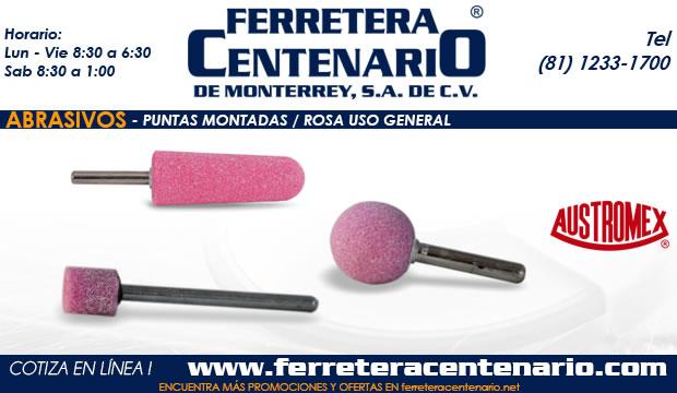 puntas montadas rosa uso general ferretera centenario monterrey mexico