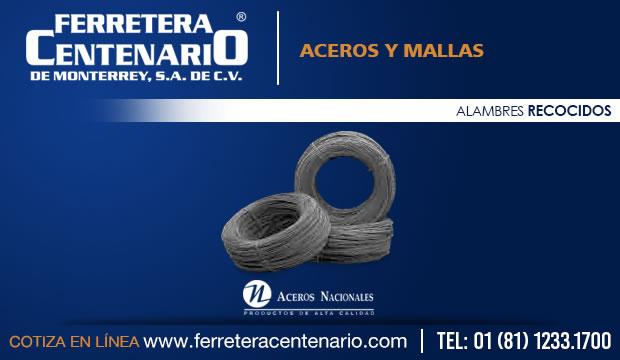 alambres recocidos ferretera centenario monterrey mexico