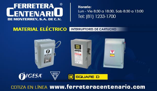 interruptores cartucho ferretera centenario monterrey mexico material electrico