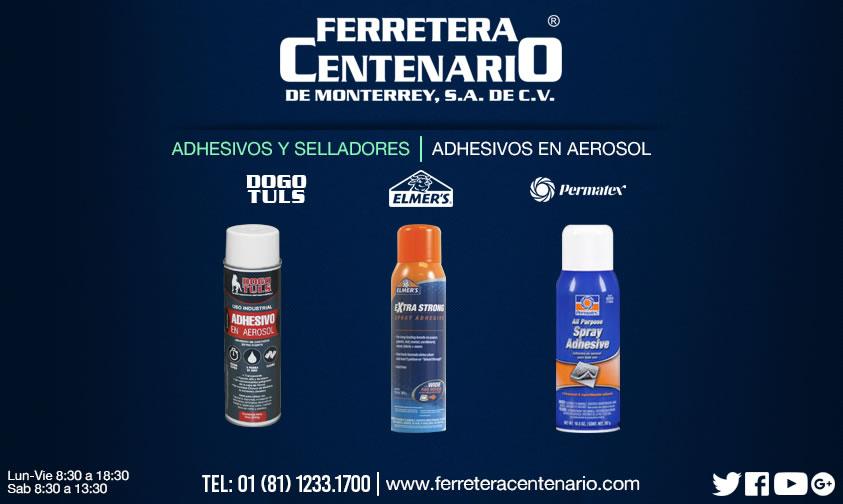 adhesivos y selladores ferretera centenario monterrey mexico aerosol