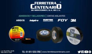 cintas aislantes adhesivos selladores ferretera centenario monterrey mexico