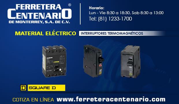 interruptores termomagnetcos herraminetas ferretera centenario monterrey mexico