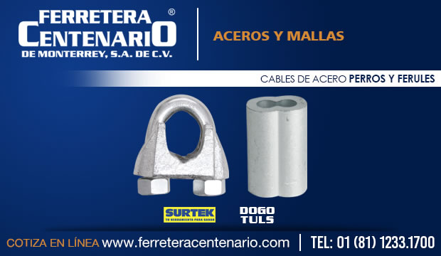 cables acero perros ferules ferretera centenario monterrey mexico