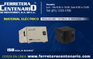 Reguladores y baterias de respaldo