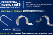 Soportes y abrazaderas para material eléctrico