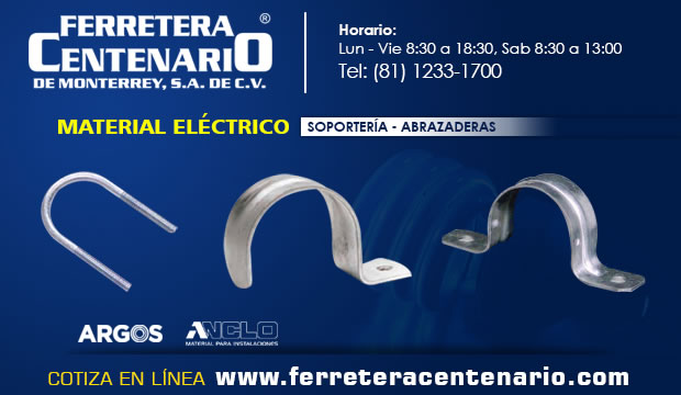 soportes soporteria abrazaderas material electrico ferretera centenario monterrey mexico