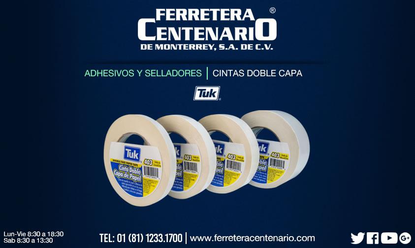cintas doble capa tuk ferretera centenario monterrey mexico adhesivos selladores