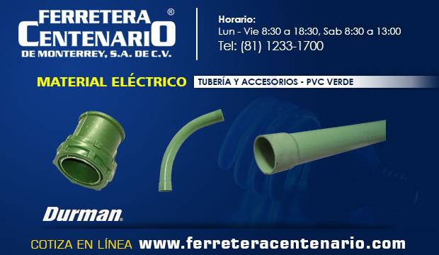 PVC verde tuberias accesorios material electrico Ferretera centenario monterrey mexico