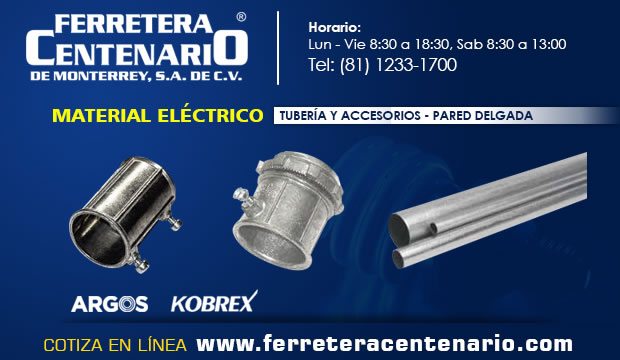 tuberia accesorios material electrico ferretera centenario monterrey mexico