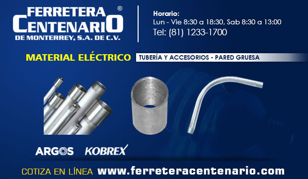 tuberia accesorios pared gruesa material electrico ferretera centenario monterrey mexico