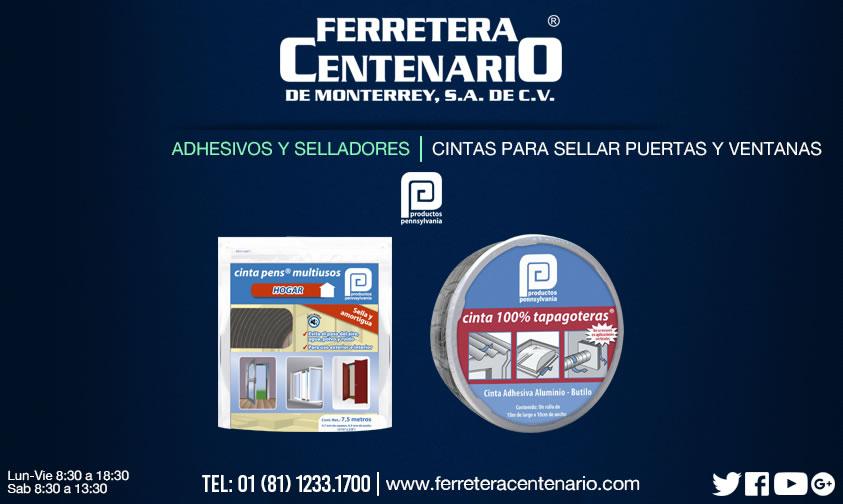 cintas puertas ventanas sellar ferretera centenario monterrey mexico
