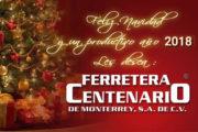 Felices Fiestas les desea Ferretera Centenario de Monterrey