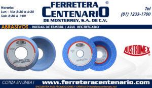 ruedas esmeril azul rectificado ferrtera centenario monterrey mexico abrasivos