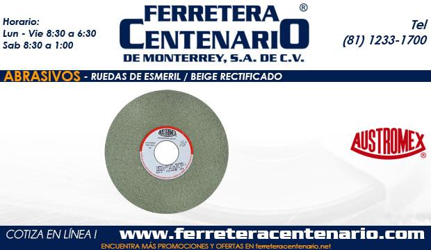 ruedas esmeril beige rectificado abrasivos ferretera centenario monterrey mexico