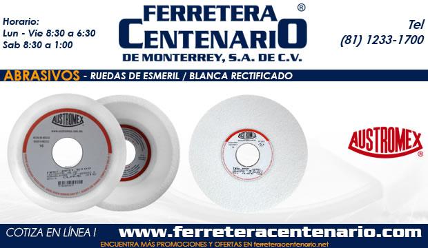 ruedas esmeril blanco rectificado ferretera centenario monterrey mexico