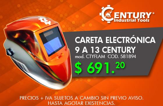 Careta electrónica 9 a 13 modelo CTYFLAM