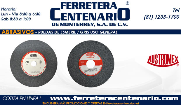 ruedas esmeril gris uso general