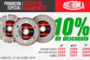 Promoción especial Discos de Diamante Austromex