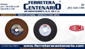 ruedas esmeril resinosas para metal ferretera centenario monterrey mexico abrasivos