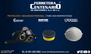 proteccion seguridad vias respiratorias equipos herramientas ferretera centenario monterrey mexico