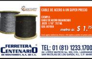 Cable de acero a un super precio
