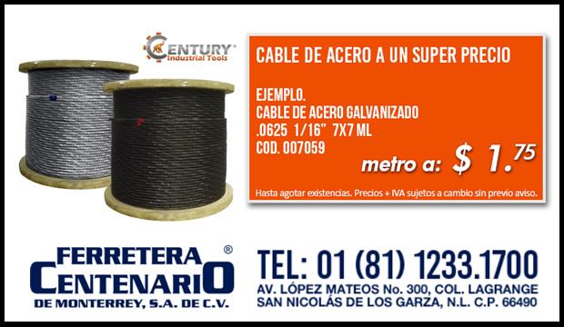 cable de acero super precio ferretera centenario monterrey mexico