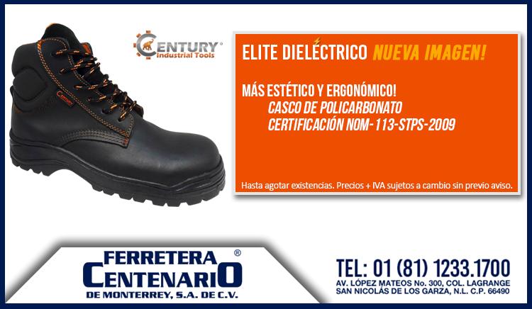 bota dielectrica casco policarbonato nueva imagen century industrial tools ferretera centenario monterrey