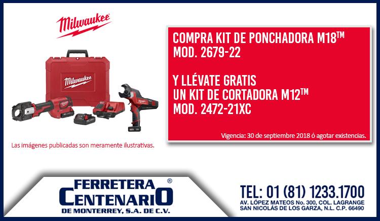 milwaukee cortadora ponchadora kit promocion gratis oferta ferretera centenario monterrey mexico promo