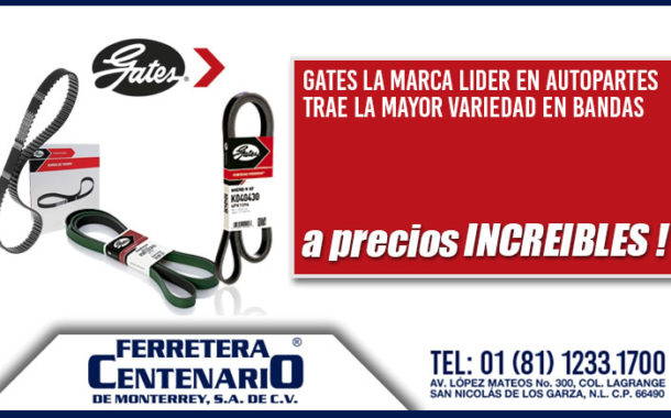 Bandas marca Gates de venta en Ferretera Centenario