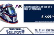 Careta electrónica AX-TECH del Equipo RAYADOS a un super precio