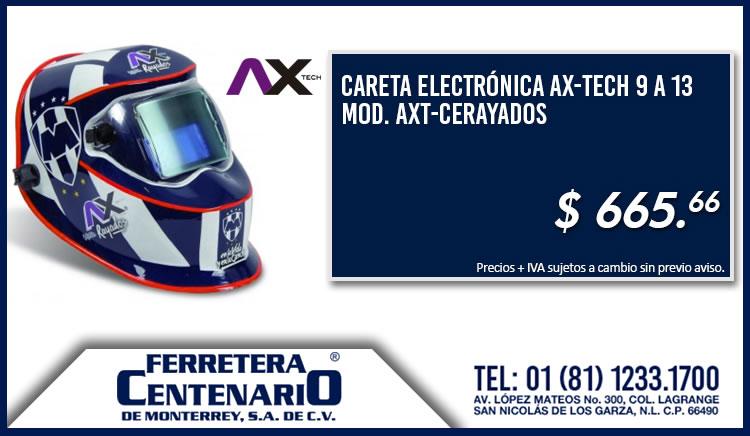 careta electronica Rayados equipo futbol ferertera centenario monterrey mexico ax-tech