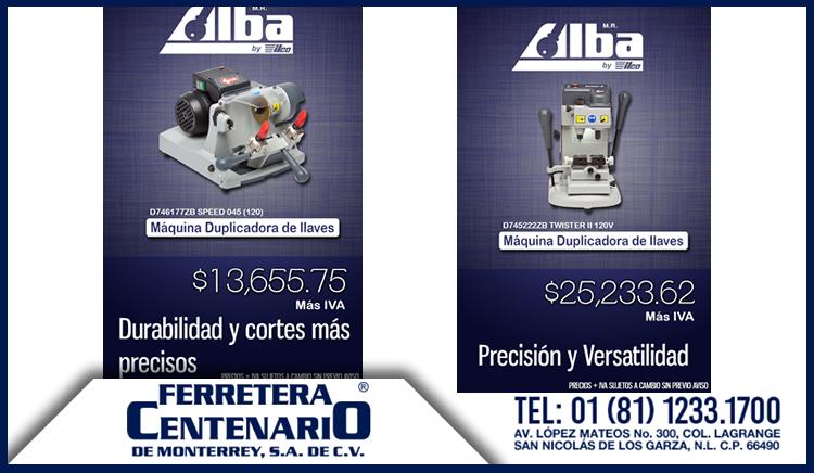 duplicadoras de llaves alba ferretera centenario monterrey mexico modelos