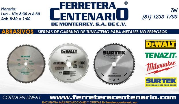sierra carbuto tungsteno metales no ferrosos ferretera centenario monterrey mexico abrasivos