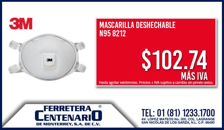 mascailla desechable oferta precio mexico ferretera centenario monterrey 3m