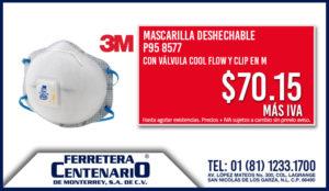 mascarilla desechable valvula cool flow clip en M oferta ferretera centenario monterrey mexico precio
