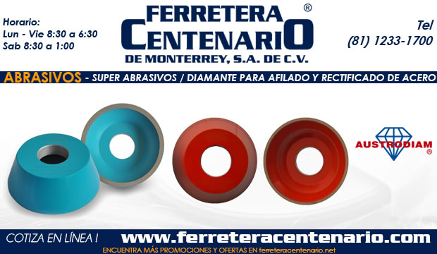 Super Abrasivos Diamante Afilado Rect Acero ferretera centenario monterrey mexico