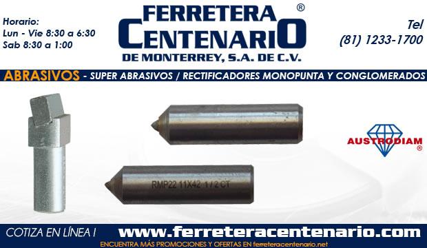 super abrasivos ferretera centenario monterrey mexico conglomerados monopunta rectificadores