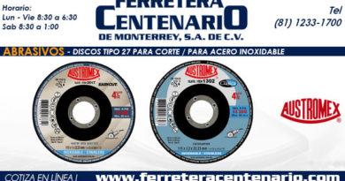 discos corte abrasivos acero inoxidable ferretera centenario monterrey mexico