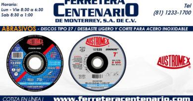 T27 Desbaste Ligero Corte Acero Inoxidable ferretera centenario monterrey mexico