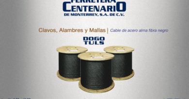 cable alma acero fibra negra ferretera centenario monterrey mexico
