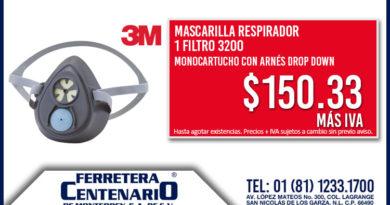 mascarilla respirador filtro ferretera centenario monterrey mexico