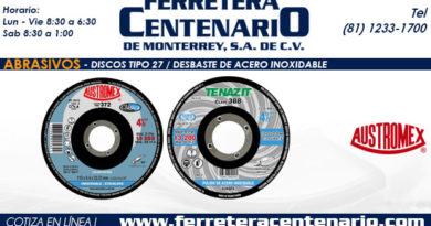 discos tipo 27 desbaste acero inoxidable ferretera centenario monterrey