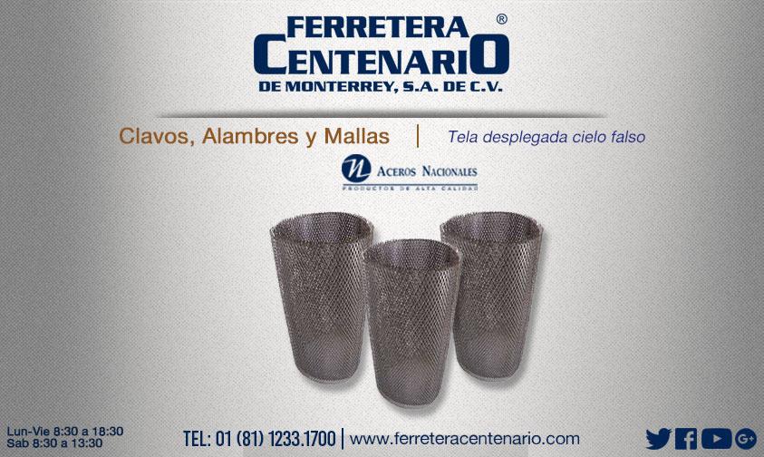 tela desplegada cielo falso ferretera centenario monterrey mexico