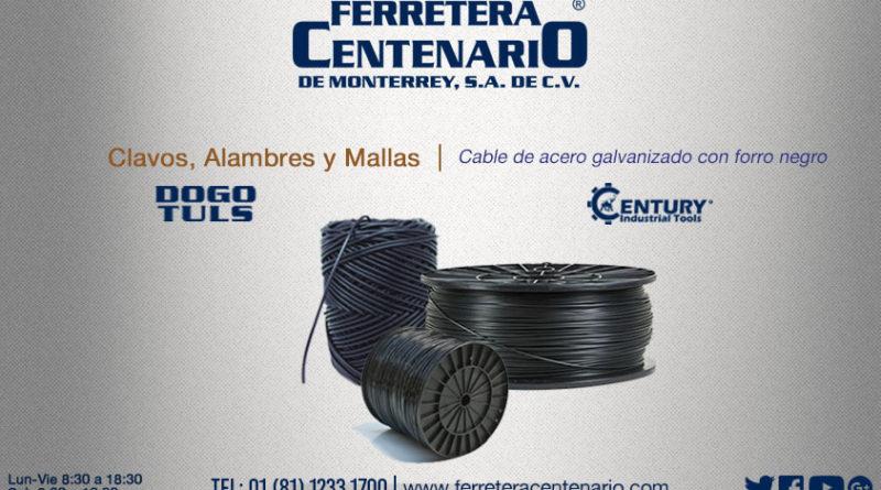 Cable de acero galvanizado con forro negro