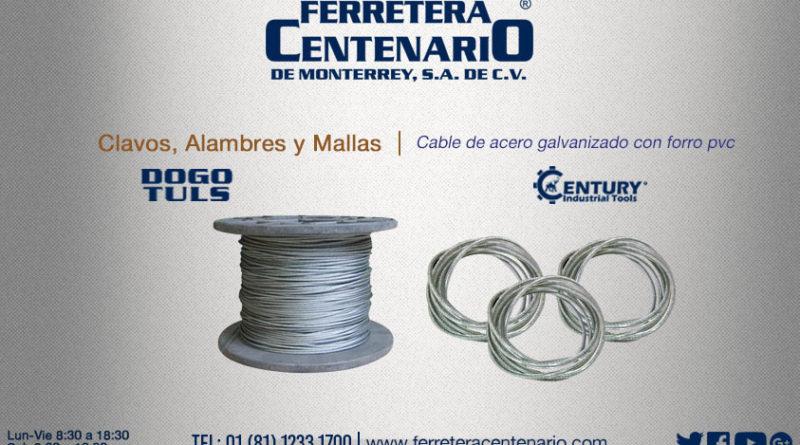 Cable de acero galvanizado con forro PVC